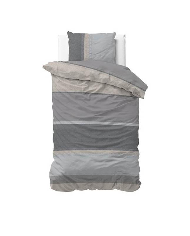1-persoons dekbedovertrek grijs