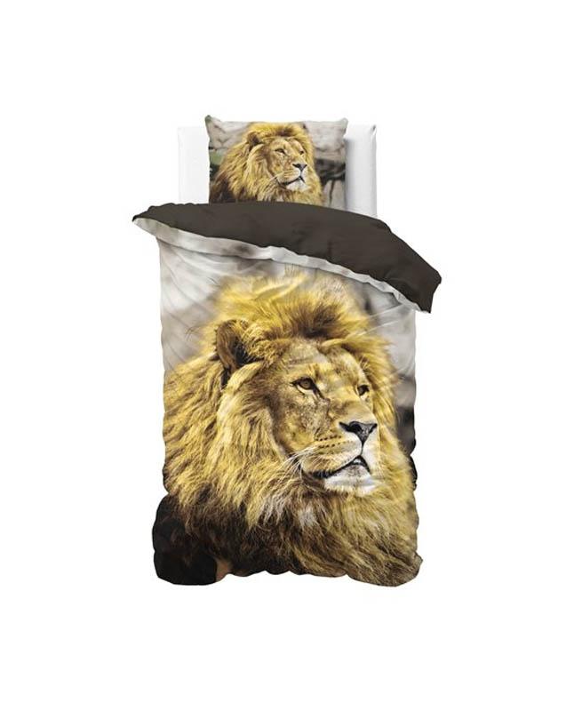 1-persoons dekbedovertrek leeuw