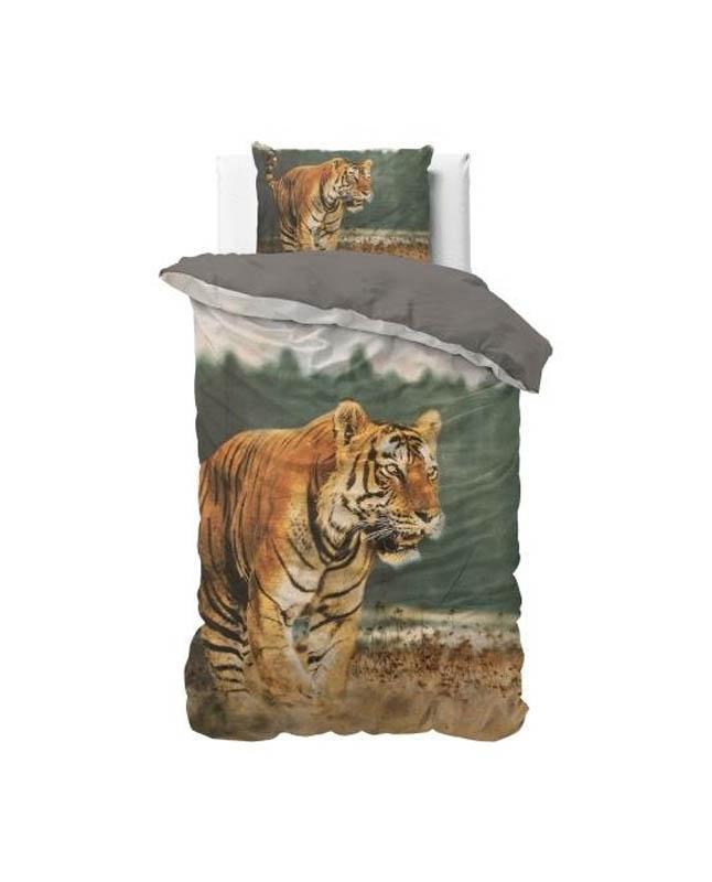 1-persoons dekbedovertrek tijger