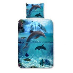 1-persoons kinderdekbedovertrek dolfijn