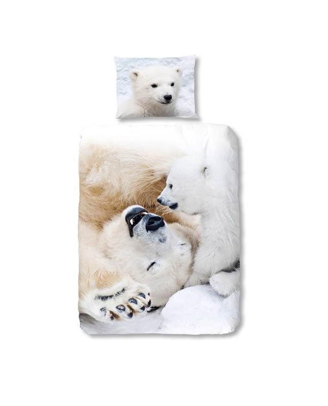 1-persoons kinderdekbedovertrek ijsberen