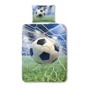 1-persoons kinderdekbedovertrek voetbal