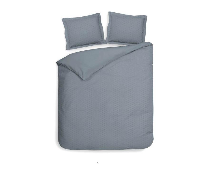 2-persoons dekbedovertrek blauw met grijs