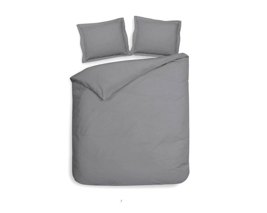 2-persoons dekbedovertrek zilver grijs