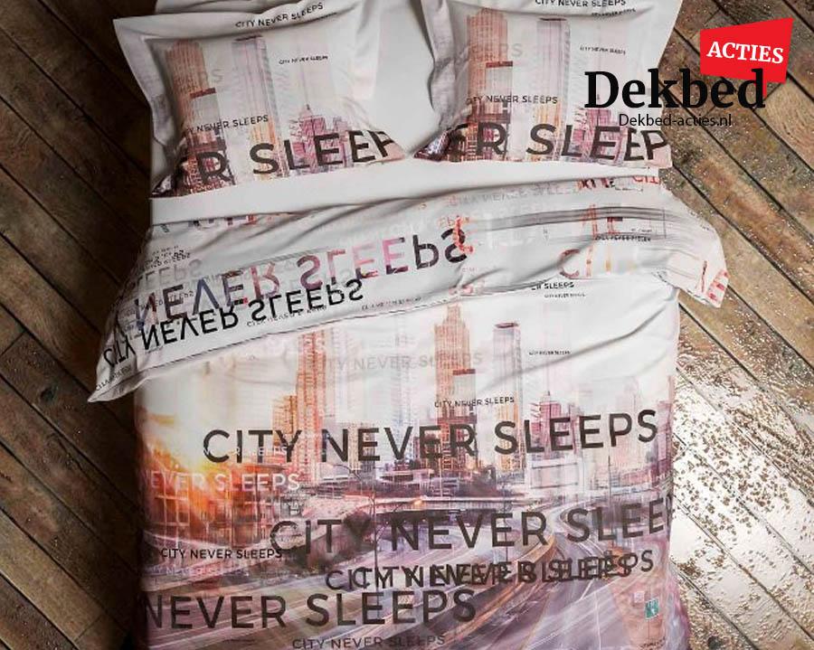 Dekbedovertrek city never sleeps