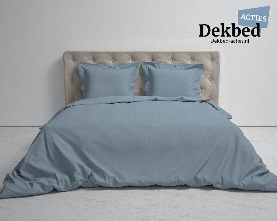 blauw-grijs dekbedovertrek