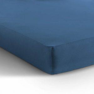 Hoeslaken blauw katoen