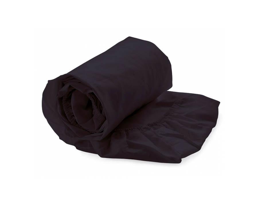 hoeslaken zwart (katoen-satijn)
